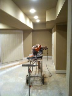 Basement at paint and trim stage.