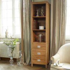 Coffee Tek Teak Bookcase 50x200. Tikamoon Furniture at http://www.tikamoon.co.uk