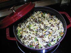 橙香野米飯/////// 野米略帶果仁香味,纖維、蛋白質極豐富。