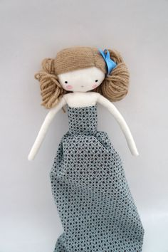 Marilyn muñeca de tela hecha a mano con por lassandaliasdeana
