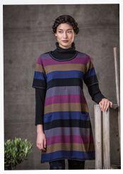 Streifenstrick-Tunika aus Baumwolle   quiet colours