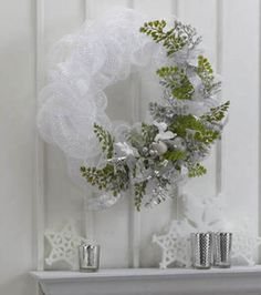 Decorative Mesh Wreath