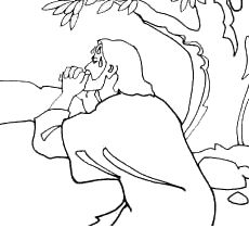 Praying Of Jesus Christ Coloring Page Picture In The Gethsemane