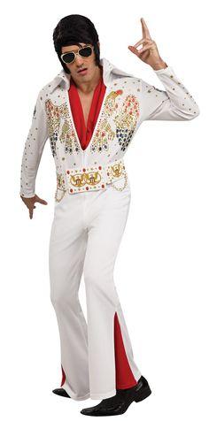 Adultes Hommes 50 S Perruque Grease le roi noir style robe fantaisie Musique Pop Star Band