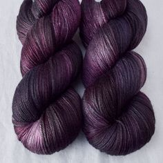 Mysterious eggplant purple with shifting creamy highlights and deep black shadows.This colorway can be highly. Crochet Yarn, Knitting Yarn, Yarn Cake, Yarn Inspiration, Sport Weight Yarn, Black Shadow, Eggplant Purple, Yarn Projects, Hand Dyed Yarn