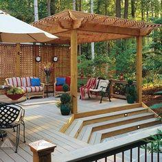 #patiodecor #patiodesigns #patioideas Pergola Cost, Deck With Pergola, Pergola Plans, Gazebo, Pergola Designs, Patio Design, Outdoor Spaces, Outdoor Living, Outdoor Decor
