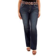 Juniors' Plus Size Wallflower Luscious Curvy Bootcut Jeans, Teens, Size: 18, Lt Yellow