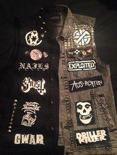 Crust Punk, Punk Outfits, Mode Outfits, Punk Jackets, Punk Patches, Battle Jacket, Dark Fashion, Heavy Metal Fashion, Estilo Rock