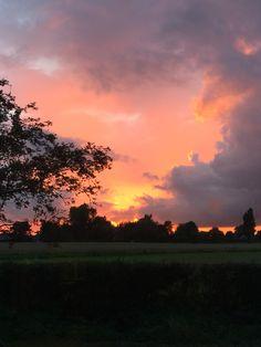 British sunset. September in Burscough Lancashire