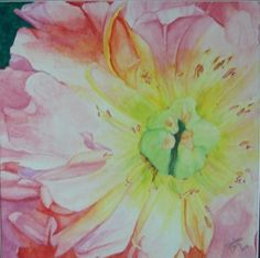 Pink Dahlia- watercolor painting