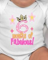 6 months of fabulous baby tee-  6 months outfit- 6 month birthday - 6 months outfit - 6 month photo - 6 months photo outfit girl - six month by CuteShirts on Etsy