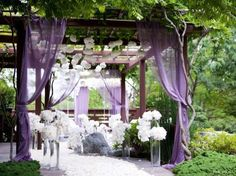 Decoración boda en tonos lavanda: fotos ideas originales - Ideas decoración en el jardín color lavanda