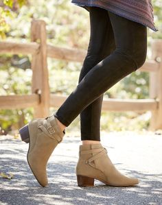 Suede buckle booties | Sole Society