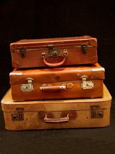 Set valige in cartone anni 40/50 Italia
