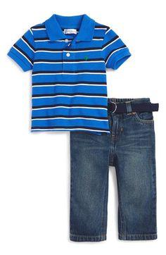 Ralph Lauren Stripe Polo & Jeans (Baby Boys)