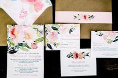 wedding invitations - photo by Justina Louise Photography http://ruffledblog.com/willamette-valley-vineyard-wedding-shoot