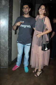 Amit Sadh and Taapsee Pannu at #Pink screening. #Bollywood #Fashion #Style #Beauty #Hot #Sexy