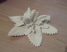Water Lily - hand made Romanian point lace doily - GreatBlouses.com