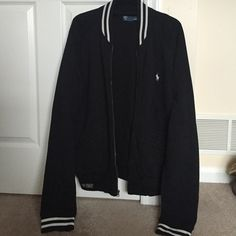 Ralph Lauren Polo Men's Large Ralph Lauren Polo Men's Jacket Size Large! In good condition! No tears and only mark is seen in photo four the left pocket had two small scuffs barely noticeable! Ralph Lauren Jackets & Coats