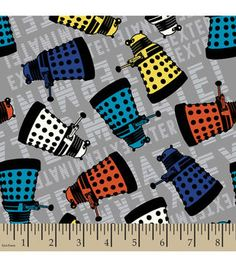 Doctor Who Dalek Cotton Fabric