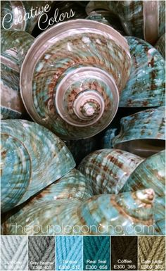 Kleurinspiratie – Sea Shell Palette – Creative Colors - The Purple Poncho Yarn Color Combinations, Color Schemes Colour Palettes, Colour Pallette, Color Palate, Creative Colour, Colour Board, Yarn Colors, Color Theory, Color Inspiration