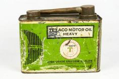 Vintage Texaco Green Oil Can