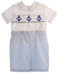 Carriage Boutique Knitted Anchor 3 Piece Short Set