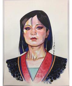Thank you Brian Stelfreeze for capturing me as #Mulan. Love it!  || Ming-Na Wen || 736x887 || #fanart
