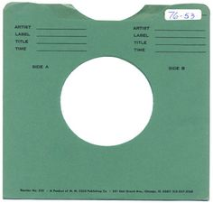 library record sleeve