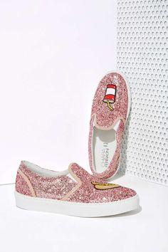 Chiara Ferragni Glitter Pop 'n Dog Slip-On Sneaker | Shop Shoes at Nasty Gal!