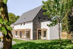 Carrowbreck Meadow Passivhaus Exterior Image House Building, Types Of Houses, Building Materials, Contemporary, Modern, Gazebo, Buildings, Exterior, House Design