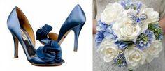 sapato de noiva azul marinho