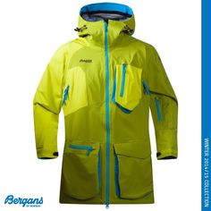 The Holdekve Jacket is a Technical 3-layer freeriding jacket developed in cooperation with our professional freeriders on Team Bergans. It is waterproof and windproof and made in a soft and comfortable 4-way stretch for maximum freedom of movement. The award-winning Dermizax®NX membrane provides excellent breathability. It is long and baggy and has an extended back.