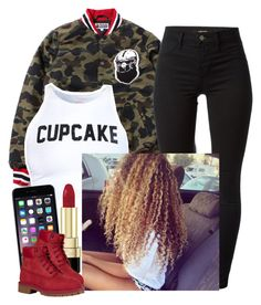 """""""✨"""" by newtrillvibes ❤ liked on Polyvore featuring J Brand, Dolce&Gabbana and Timberland"""