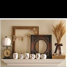 Thanksgiving ideas - loving white pumpkin decor! I really like the wheat in the pitcher with the bow