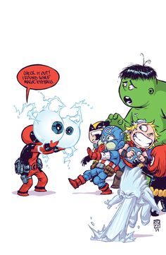 Deadpool with the Watcher's eyes. Original Sin series. I'm totally with Iceman!