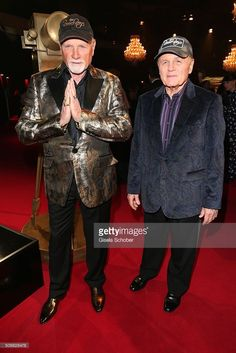 Mike Love, singer of Beach Boys and Bruce Johnston, singer of Beach Boys during the Goldene Kamera 2016 reception on February 6, 2016 in Hamburg, Germany.