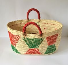 Pletená taška na trh / Omar_Handmade - SAShE. Toy Basket, Basket Bag, Handmade Home, Handmade Items, Belly Basket, Tribal Decor, Picnic Bag, Embroidered Bag, Big Bags
