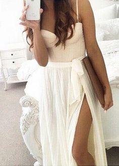 WHITE MOON PLEAT CHIFFON MAXI SKIRT in WHITE   Sexy, Maxi skirts ...