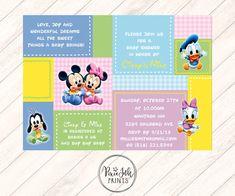 Neutral Baby Shower Invitation Patchwork Baby Shower