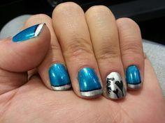 Blue love My Nails, Nail Art, Blue, Beauty, Nail Arts, Beauty Illustration, Nail Art Designs