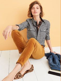 Ideas For Moda Femenina Casual Outfits Flats Fashion Mode, Work Fashion, Fashion Looks, Fashion Outfits, Womens Fashion, Fall Outfits, Casual Outfits, Cute Outfits, J Crew Outfits
