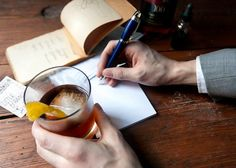 The Real Old Fashioned, a pen, paper.really my style. Vintage Cocktails, 3rd Wedding Anniversary, Old Fashioned Cocktail, Mad Men, Daydream, Letter Boxes, Alcohol, Lettering, My Style