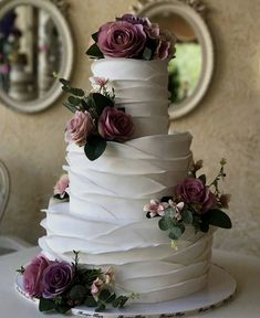 Mouth-watering Floral Wedding Cakes for Spring and SummerSpeaking of wedding cake trends, there are plenty out there, from multi-layered wedding cakes, to geometric wedding cakes,… Summer Wedding Cakes, Black Wedding Cakes, Floral Wedding Cakes, Wedding Cake Rustic, Elegant Wedding Cakes, Elegant Cakes, Beautiful Wedding Cakes, Wedding Cake Designs, Wedding Ideas