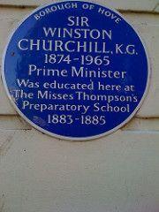 Photo of Winston Churchill blue plaque Winston Churchill, Woman, Blue, Women