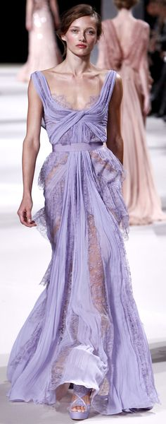 Elie Saab 2011 - More pastel ideas here: http://mylusciouslife.com/prettiness-luscious-pastel-colours/