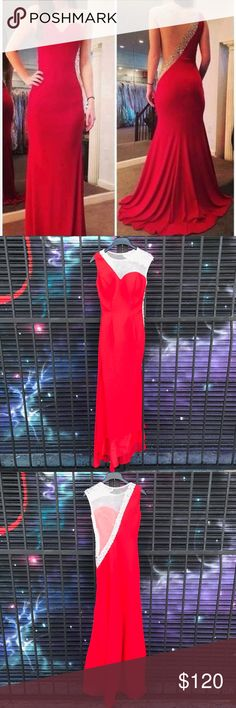 Beautiful red Prom Dress / Gown This beautiful prom dress is a perfect pick if you are looking for something adorable yet affordable this 2017! Only worn once for a few hours an has NO imperfections! Nearly BRAND NEW ! NWOT ! the sizing is a small so the chart is already available for you to see if you are a perfect match! ❤️ also unfortunately I personally no longer fit so can not take pictures in it anymore. Price is Negotiable but NO LOW BALLING THIS DRESS IS BEAUTIFUL AND THE CHEAPEST…