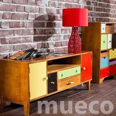 Cómoda Rack Modular Vintage Diseño Melamina Mueco Muebles - $ 2.600,00 en MercadoLibre