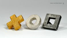 "PAWEL KACZYNSKI / JEWELLERY / BIG RINGS / from collection ""tic tac toe"""