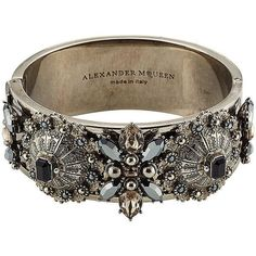 Alexander McQueen Embellished Ring ( 842) ❤ liked on Polyvore featuring  jewelry, rings, · AccessoiresBijouxCoutureBaguesAnneaux ... 5168c9b6dff